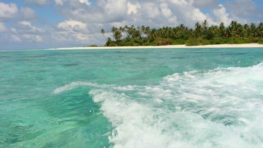 Orivaru island, Maldives.